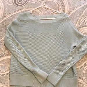 Light Blue LOFT boat neck sweater size M